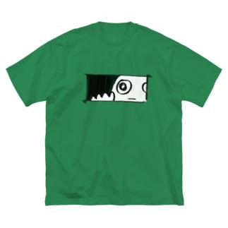 のぞきみ Big silhouette T-shirts