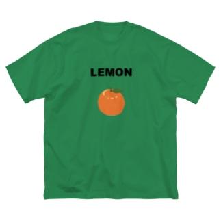 レモン Big silhouette T-shirts