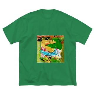 きみどりの風景と空 Big Silhouette T-Shirt