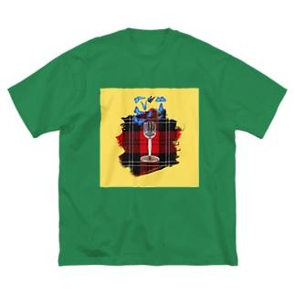蝶々 Big silhouette T-shirts