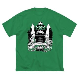 烏賊の紋章 Big silhouette T-shirts