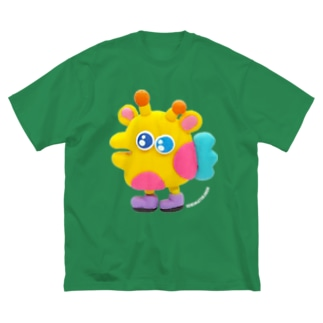 あしのはえたキリン Big silhouette T-shirts