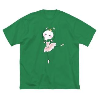バレリーナちゃん Big silhouette T-shirts