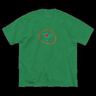 むきむき   地球生活のさいぼう Big silhouette T-shirts