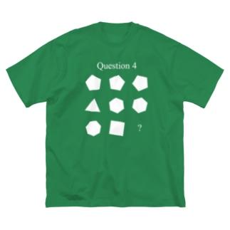 Q4(白インク) Big silhouette T-shirts