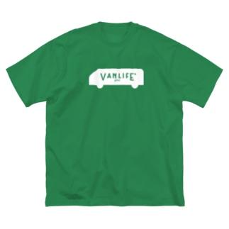 vanlife plus_logomark02 Big silhouette T-shirts