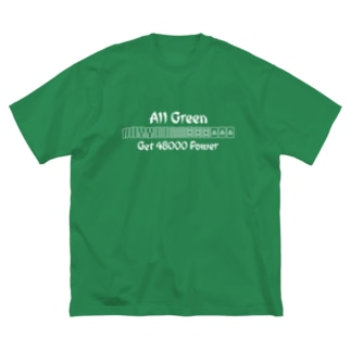 All Green 🍀 緑一色 Big silhouette T-shirts