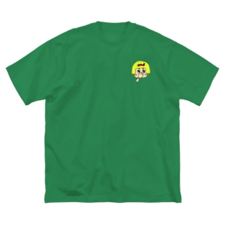 可愛い女の子(裏表印刷) Big silhouette T-shirts