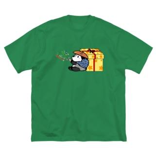 あきんどくん Big silhouette T-shirts