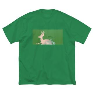 朝露の首飾り Big silhouette T-shirts