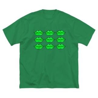 くちびる グリーンリップ Big T-shirts