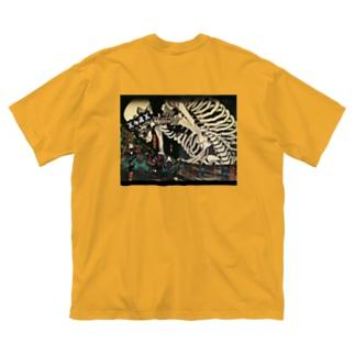 【X 屍 X】 Big silhouette T-shirts