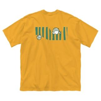 スイカを食べるこども Big silhouette T-shirts