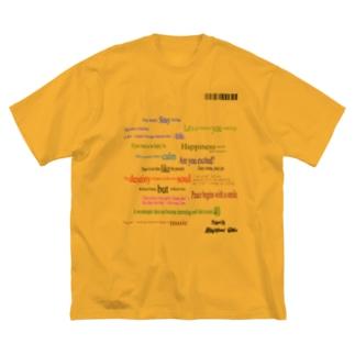 ランダム英文 Big silhouette T-shirts
