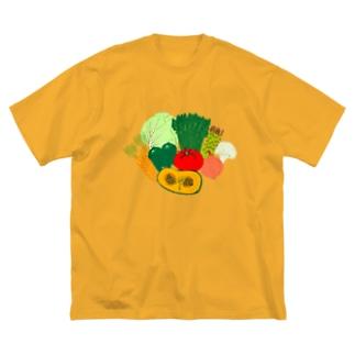 野菜大好きなひと専用デザイン「野菜大集合」 Big silhouette T-shirts