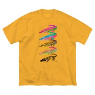 イリエワニ4+ホネ Big silhouette T-shirts