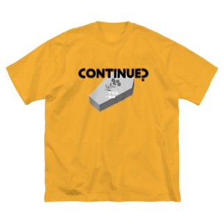 CONTINUE?(Type A) Big silhouette T-shirts