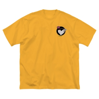 無垢鳥 Big silhouette T-shirts