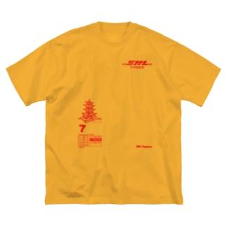 SAMULAI Express中侍道敦豪 Big silhouette T-shirts