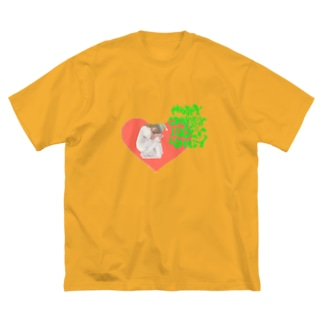happy charmmy lucky wholly ガーリーおんなのこ Big silhouette T-shirts