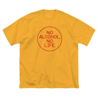 NO ALCOHOL, NO LIFE. Big silhouette T-shirts