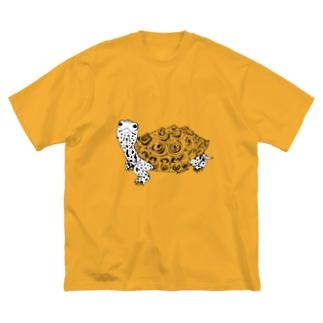 ダイヤモンドバックテラピン 白肌 Big silhouette T-shirts