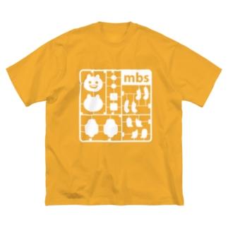マエバサンプラモ Big silhouette T-shirts