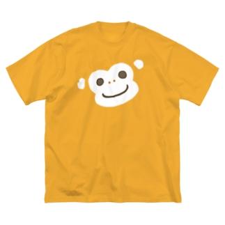 ほんわか通りのおさるさん(BIG FACE) Big silhouette T-shirts