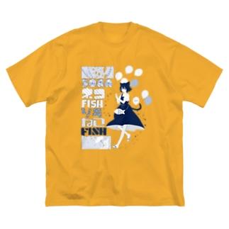 ソラネコフィッシュ Big silhouette T-shirts