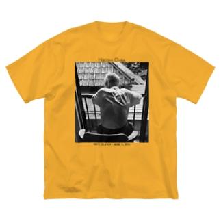 祖父 Big silhouette T-shirts