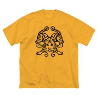 #不思議な動物園 [虎] Big silhouette T-shirts