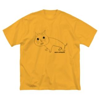 kuro neco Big silhouette T-shirts