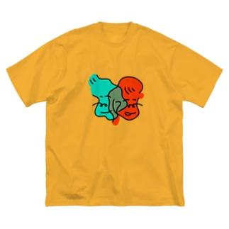 ぼーい密がーる Big silhouette T-shirts