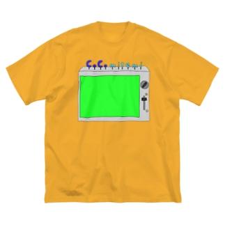 グリーンバックに使えるよ! Big silhouette T-shirts