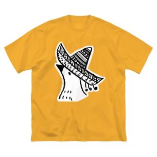 メキシカンヤマドリのTシャツ(BIG) Big silhouette T-shirts
