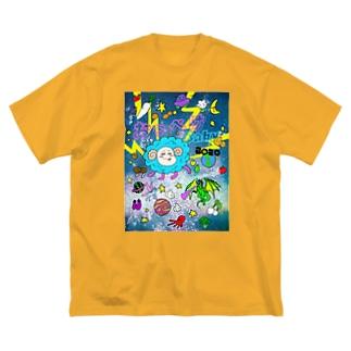 おっぺけ☆ギャラクシー Big silhouette T-shirts