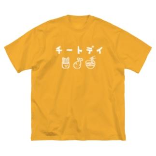 チートデイ Big silhouette T-shirts