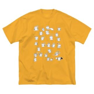 わちゃわちゃやくそうそのに Big silhouette T-shirts