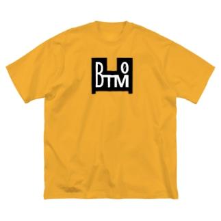 BTM-BLACK(フロントのみ) Big silhouette T-shirts