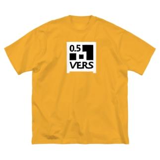VERS-WHITE(フロントのみ) Big silhouette T-shirts