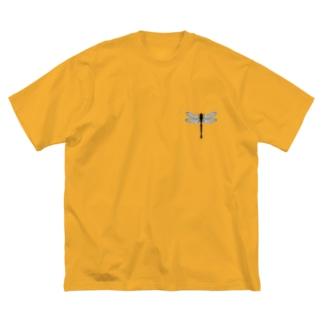 トンボ(虫・シンプルデザイン) Big silhouette T-shirts
