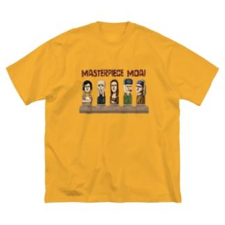 名画のモアイたち Big silhouette T-shirts