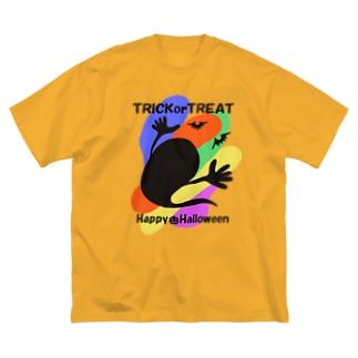 ハロウィンおばけ(カラー) Big silhouette T-shirts