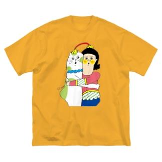 なかよしこよし Big silhouette T-shirts
