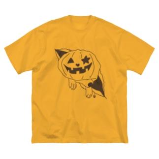 突き破る日向さん 尻尾つき Big silhouette T-shirts