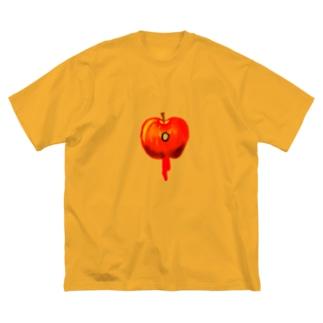 killed fruits~Apple~死因:銃殺 Big silhouette T-shirts