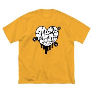 ことわざシリーズ Big silhouette T-shirts