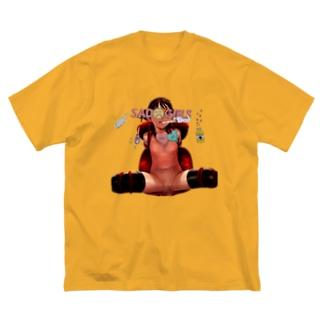 SADGIRLSCLUB 拘束 少女 Big silhouette T-shirts