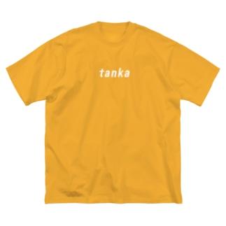 ロゴ風tanka Big silhouette T-shirts