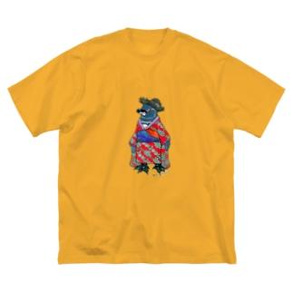 着物ぺんぎん―ガラパゴスと李― Big Silhouette T-Shirt